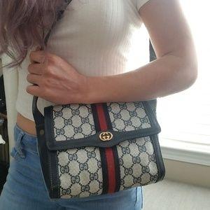 Authentic Vintage Gucci Shoulder Clutch Bag